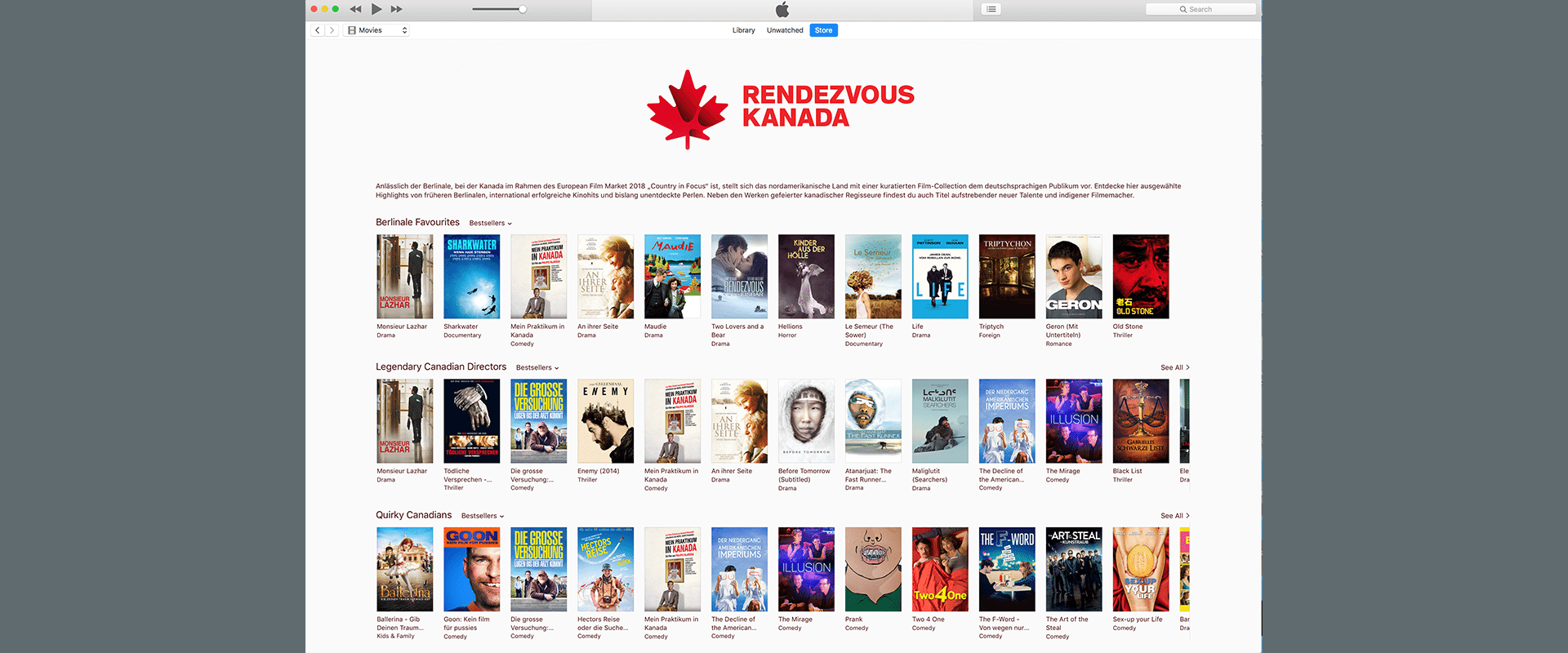 Canada\'s at your fingertips on iTunes | RDV CANADA